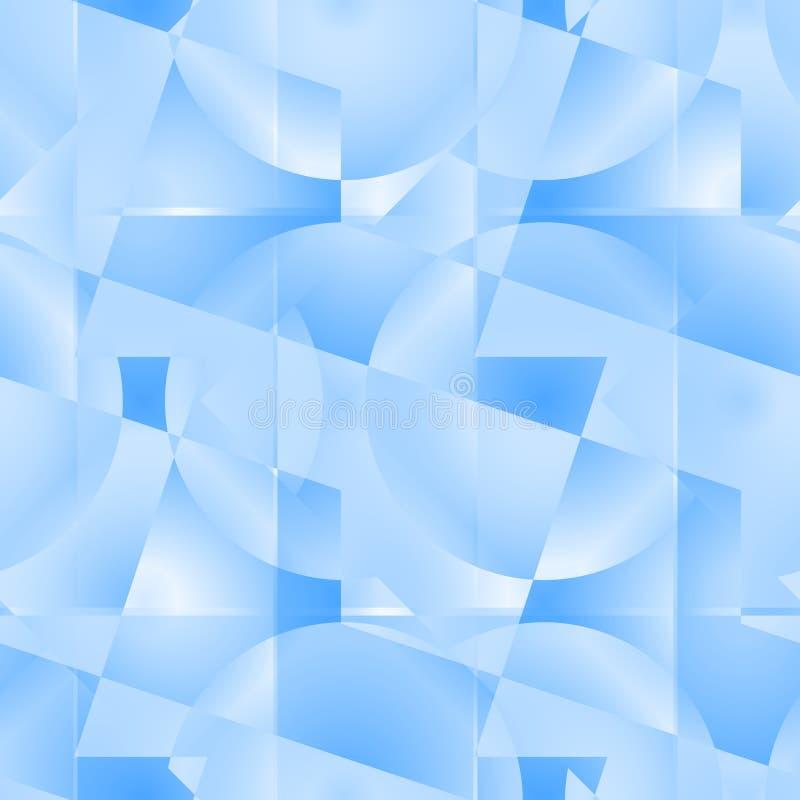 seamless abstrakt blå modell royaltyfri illustrationer