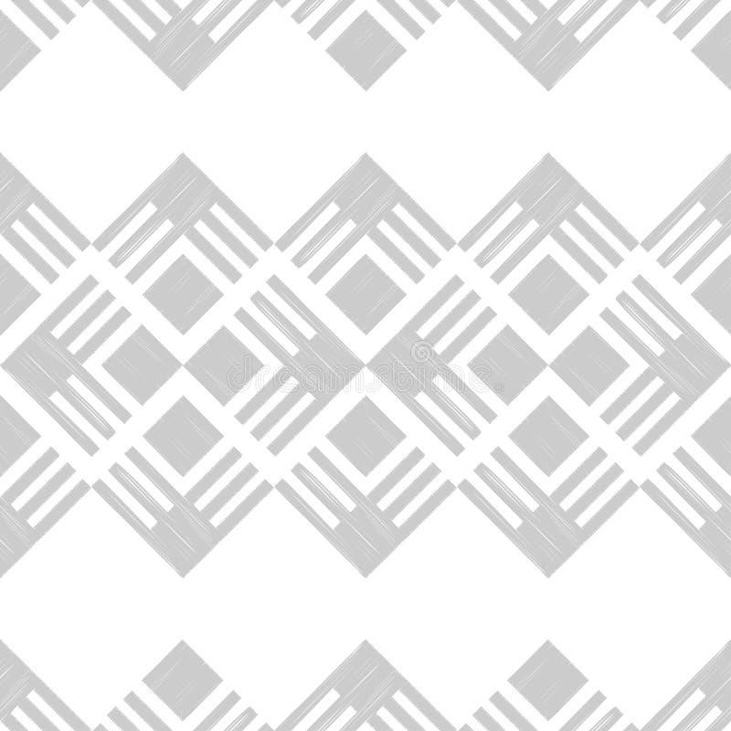 seamless abstrakt geometrisk modell bakgrund är kan använd mosaiktextur borsten Kläcka för hand Klottra textur royaltyfri illustrationer