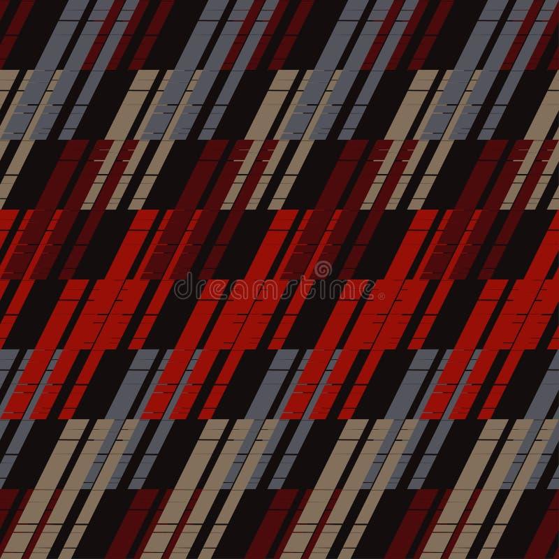 seamless abstrakt geometrisk modell bakgrund är kan använd mosaiktextur borsten Kläcka för hand Klottra textur stock illustrationer