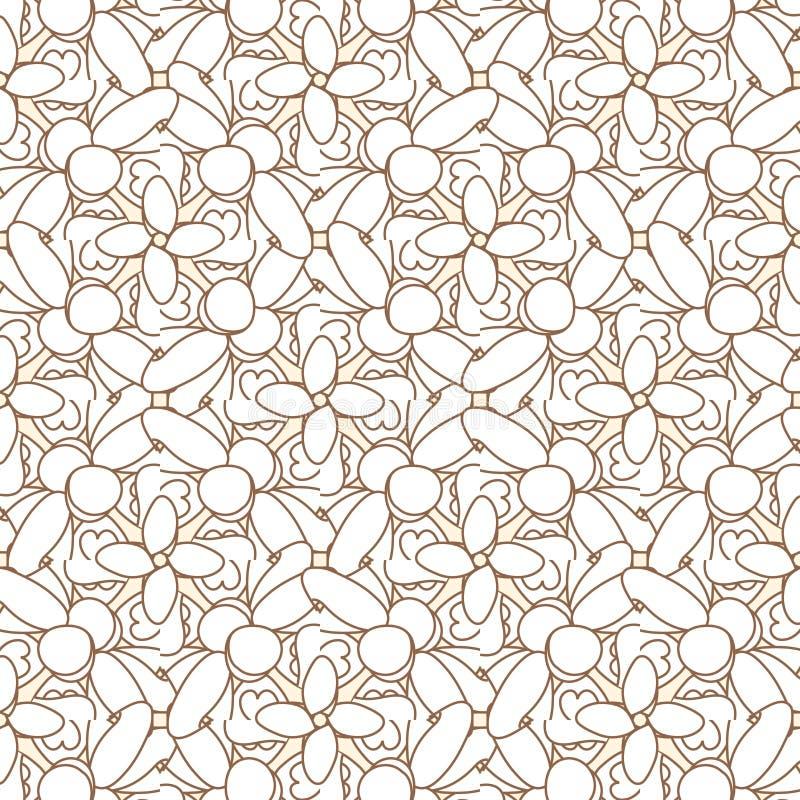 seamless abstrakt geometrisk modell Brunt- och vitmodell med linjen vektor illustrationer