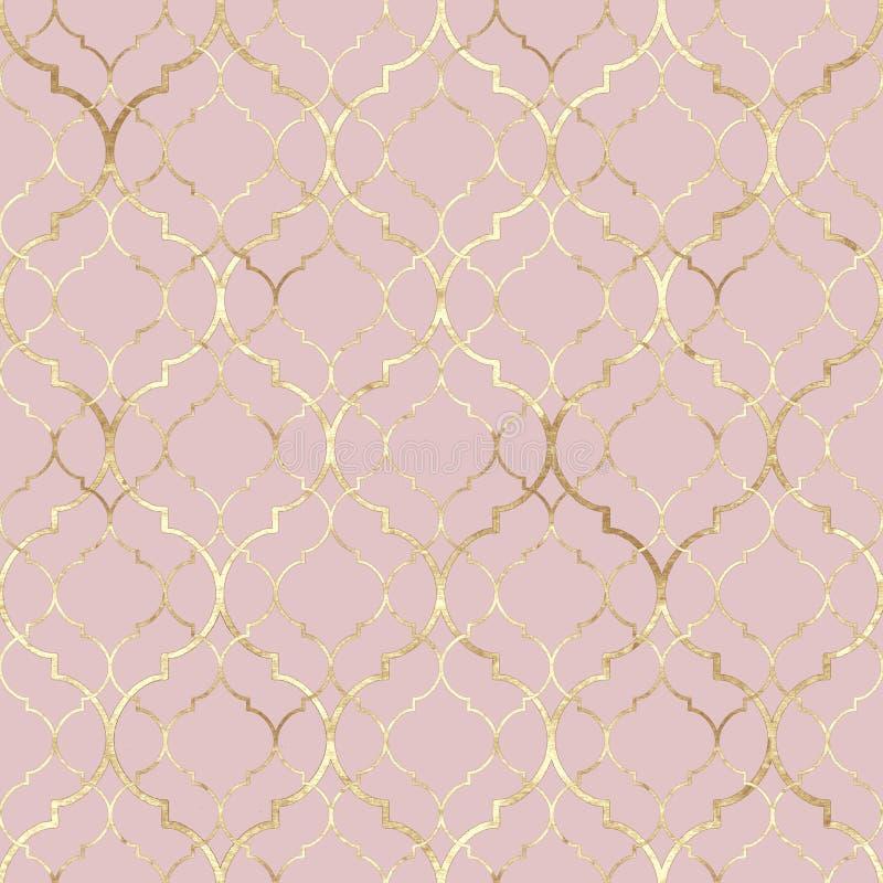 seamless abstrakt geometrisk modell orientaliska tegelplattor tappning f?r textur f?r f?rgrikt detaljytterhus gammal stock illustrationer