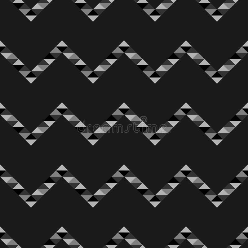 seamless abstrakt geometrisk modell Textur av sicksackar och trianglar polygoner Klottra textur stock illustrationer