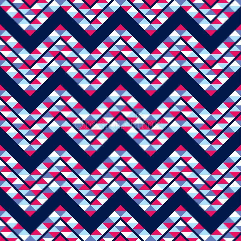 seamless abstrakt geometrisk modell Textur av sicksackar och trianglar polygoner Klottra textur vektor illustrationer