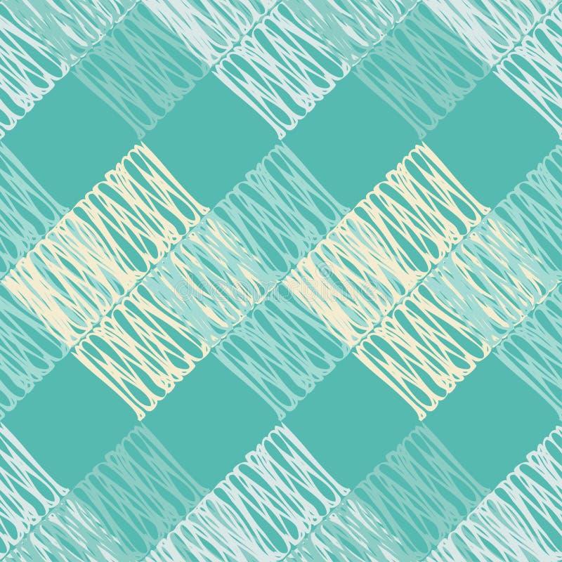 seamless abstrakt geometrisk modell Texturen av fyrkanterna borsten Kläcka för hand Klottra textur royaltyfri illustrationer