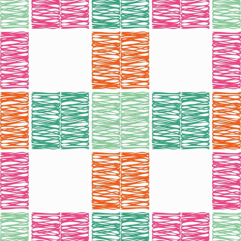 seamless abstrakt geometrisk modell Texturen av fyrkanterna borsten Kläcka för hand Klottra textur vektor illustrationer