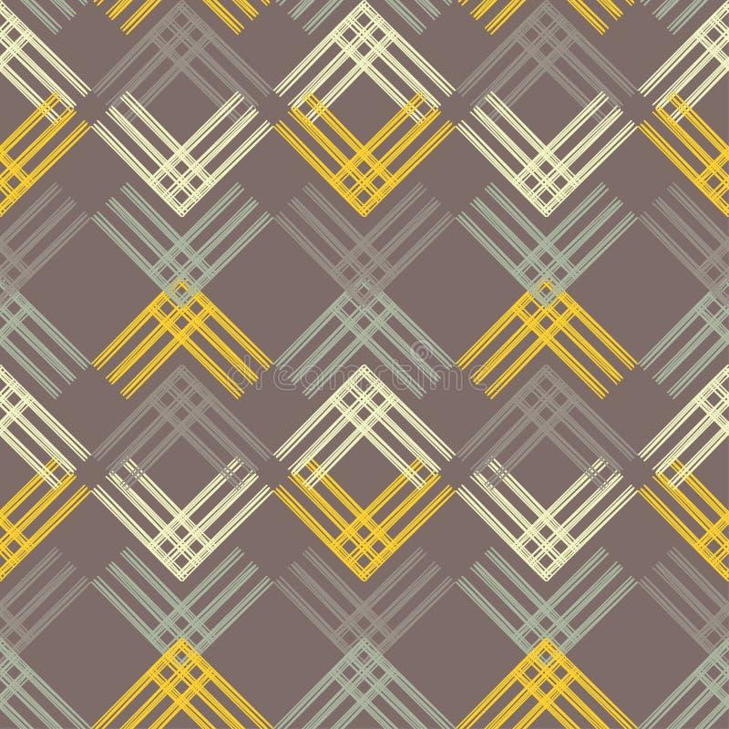 seamless abstrakt geometrisk modell Texturen av remsorna borsten Kläcka för hand Klottra textur stock illustrationer