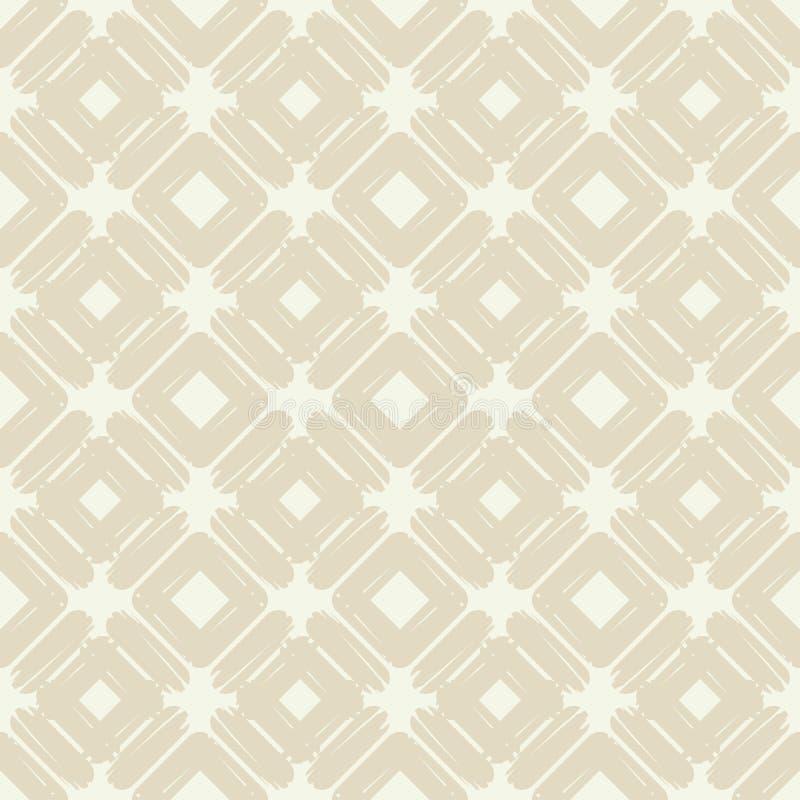 seamless abstrakt geometrisk modell Texturen av romben borsten Kläcka för hand Klottra textur stock illustrationer
