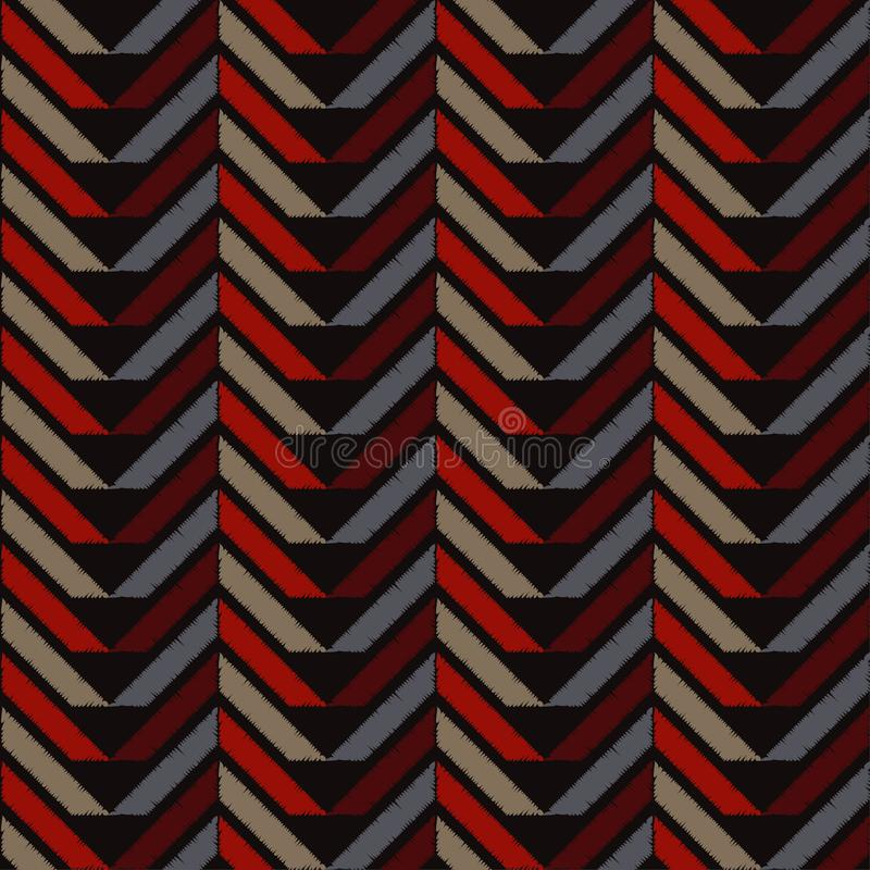 seamless abstrakt geometrisk modell Texturen av sicksacken borsten Kläcka för hand Klottra textur vektor illustrationer