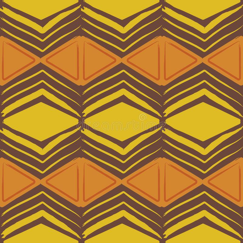 Seamless african batik pattern stock illustration