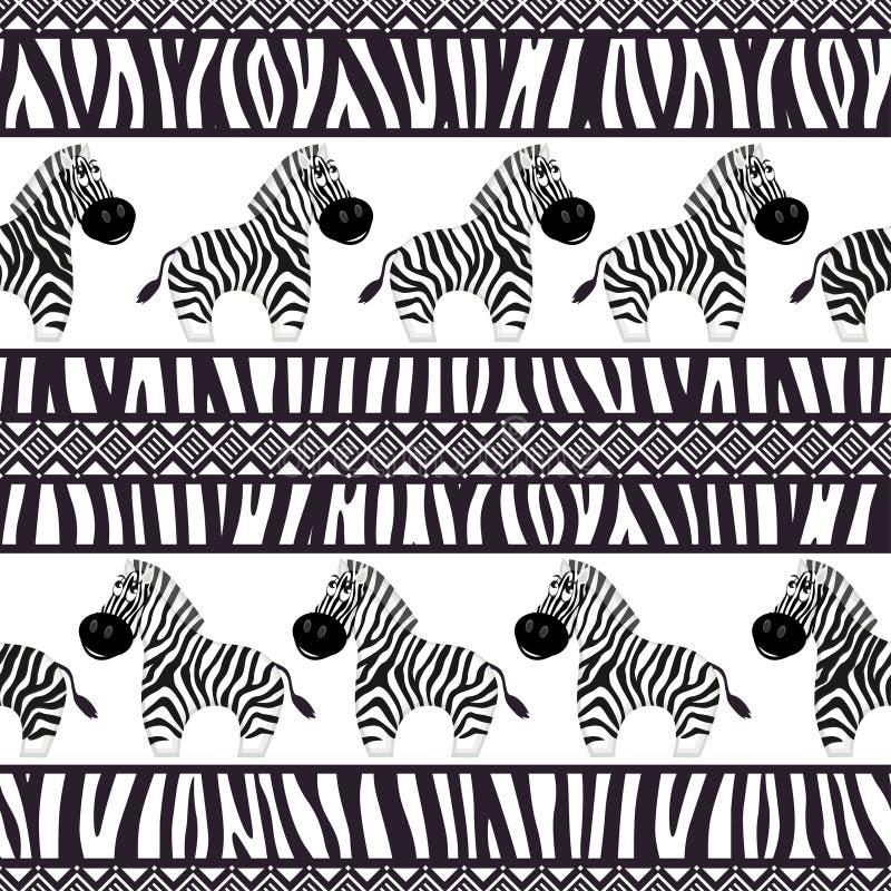 seamless afrikanska modeller stock illustrationer