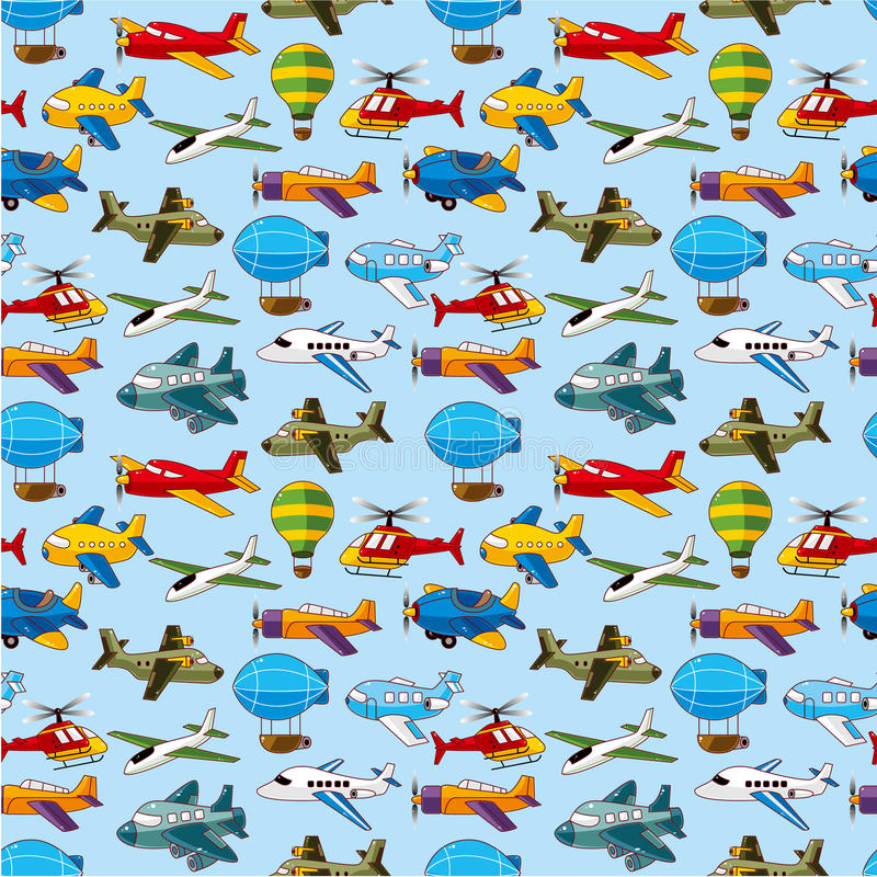 Download Seamless airplane pattern stock vector. Image of models - 21169987