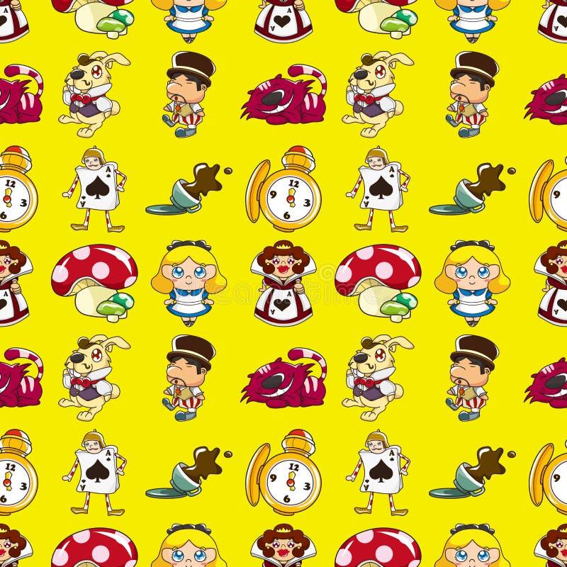 Download Seamless Alice In Wonderland Pattern Stock Vector - Illustration: 28039329