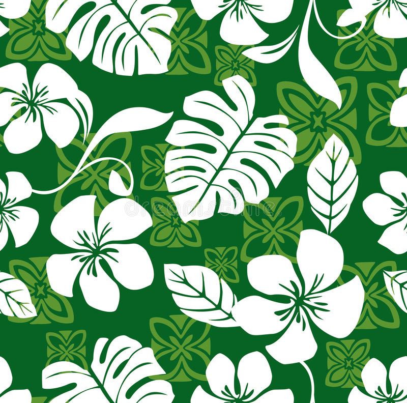 Seamless Aloha Friday Hawaiian Shirt Pattern royalty free illustration