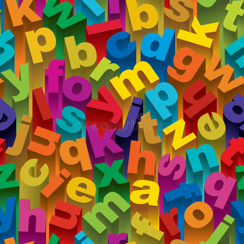 Download Seamless Alphabet Pattern stock vector. Illustration of background - 23279355