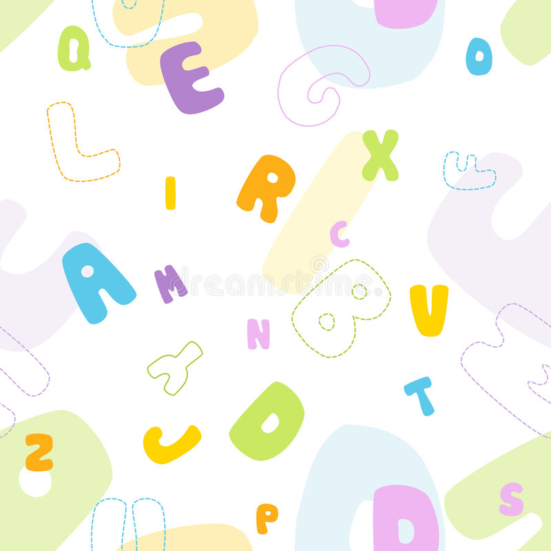 Seamless Alphabet Pattern Stock Photography