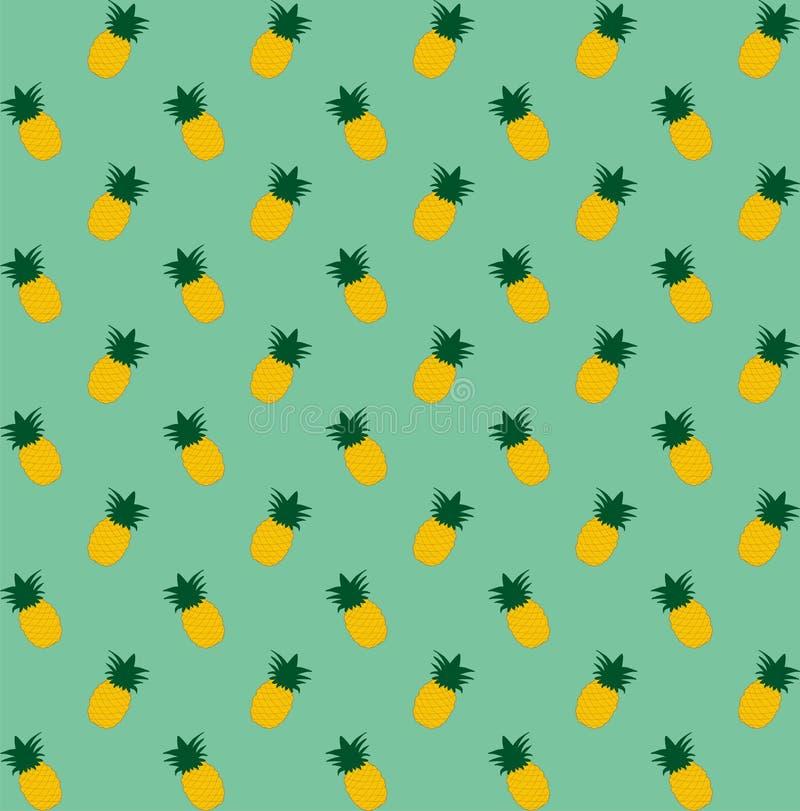 Seamless ananas mönstrar Tappningananas som är sömlös för din affär royaltyfri illustrationer