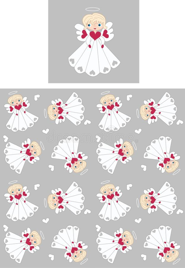 Download Seamless angel pattern stock vector. Illustration of angel - 17713632