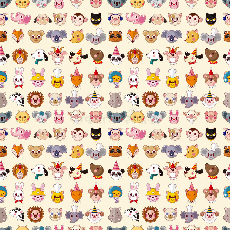 Download Seamless Animal Face Pattern Stock Photos - Image: 30166863