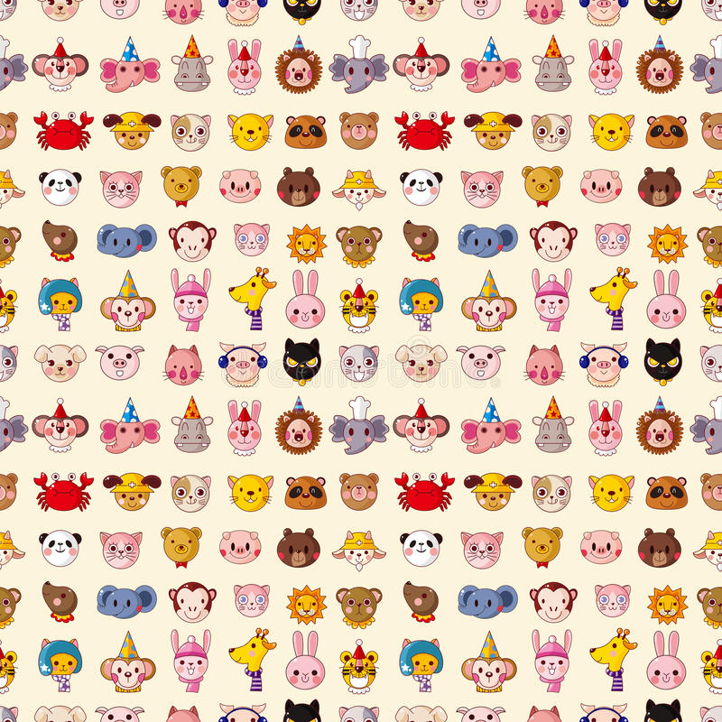 Download Seamless Animal Face Pattern Stock Vector - Image: 30310211
