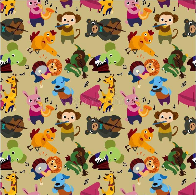 Seamless animal music pattern vector illustration