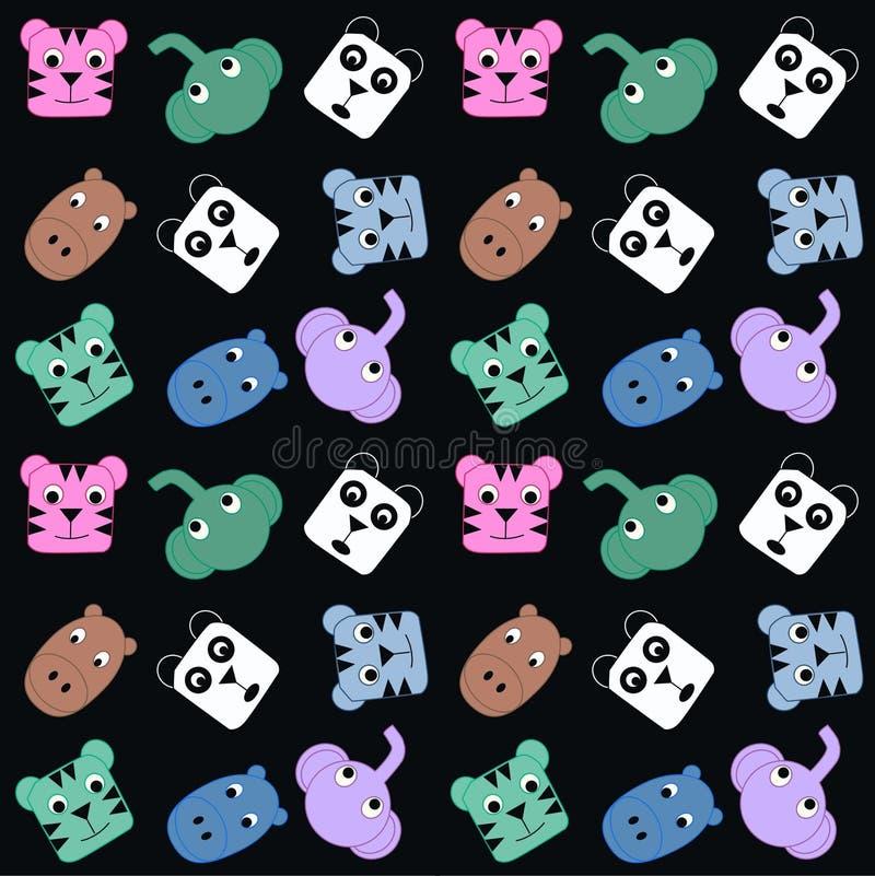 Seamless animal pattern stock illustration