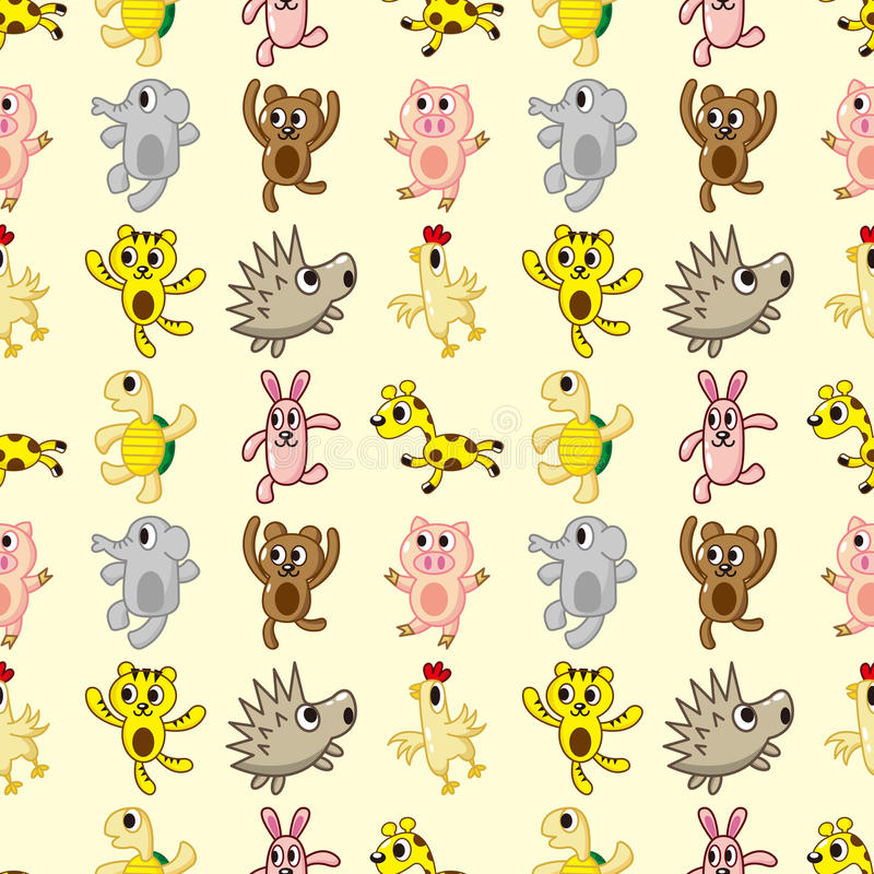 Download Seamless animal pattern stock vector. Image of critter - 27858434