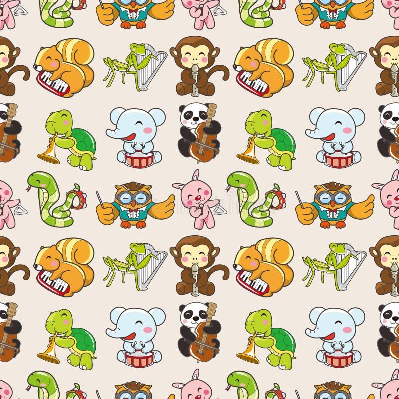 Seamless Animal Pattern Royalty Free Stock Photo