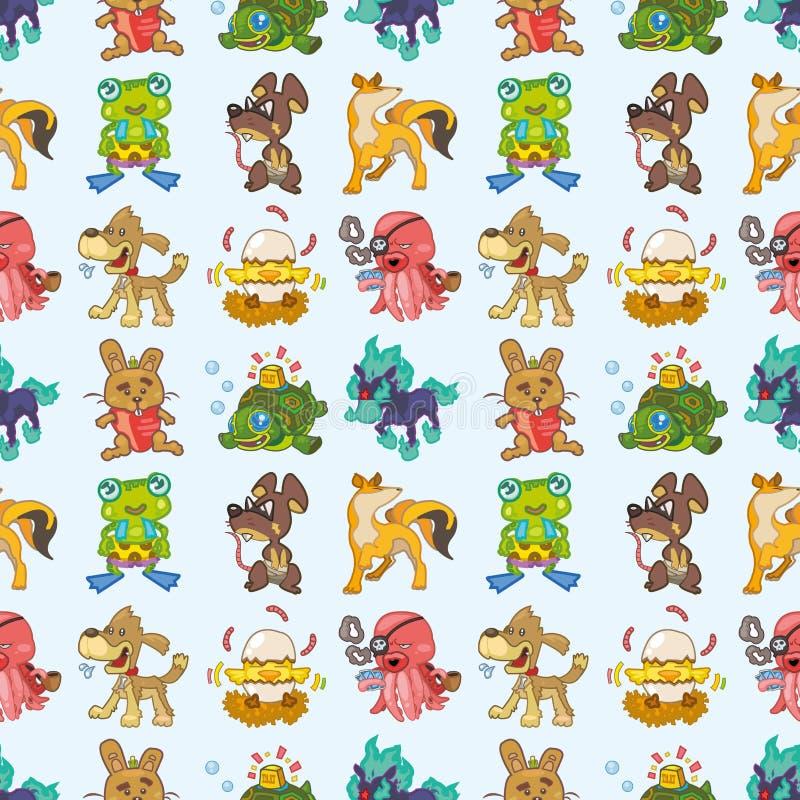 Seamless Animal Pattern Stock Photo