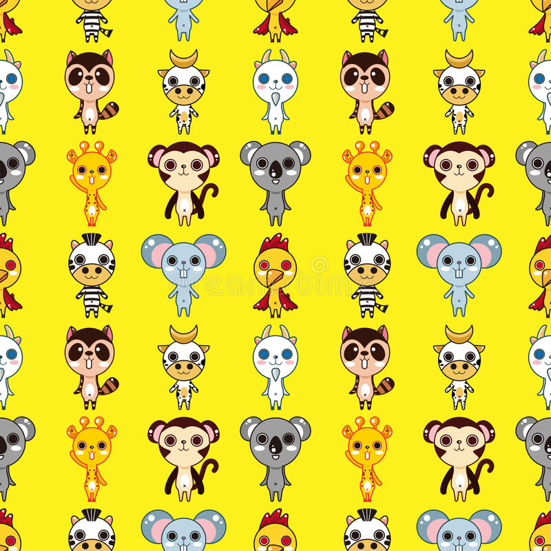 Download Seamless animal pattern stock vector. Image of collection - 28170072
