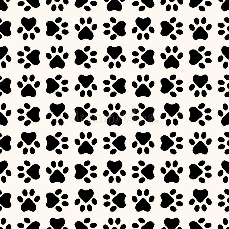Download Seamless Animal Pattern Of Paw Footprint Stock Vector