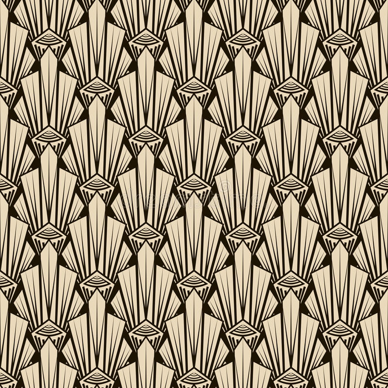 Free Seamless Antique Pattern Ornament. Geometric Art Deco Stylish Ba Royalty Free Stock Image - 53934406