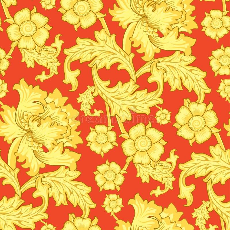 Seamless Antique Wallpaper Pattern royalty free stock image