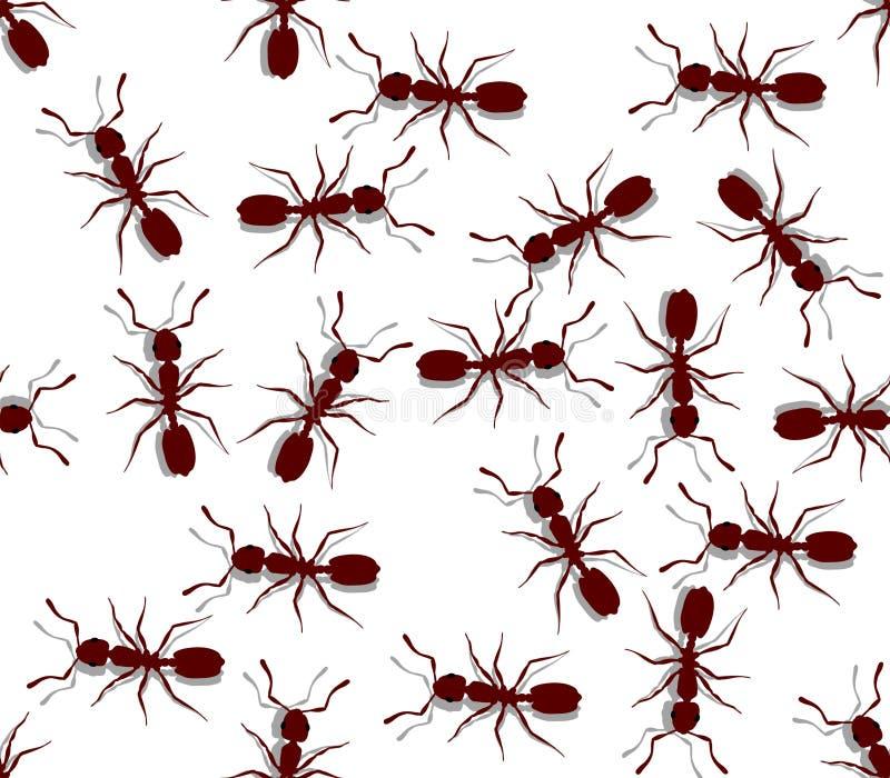 Seamless Ants Stock Photo