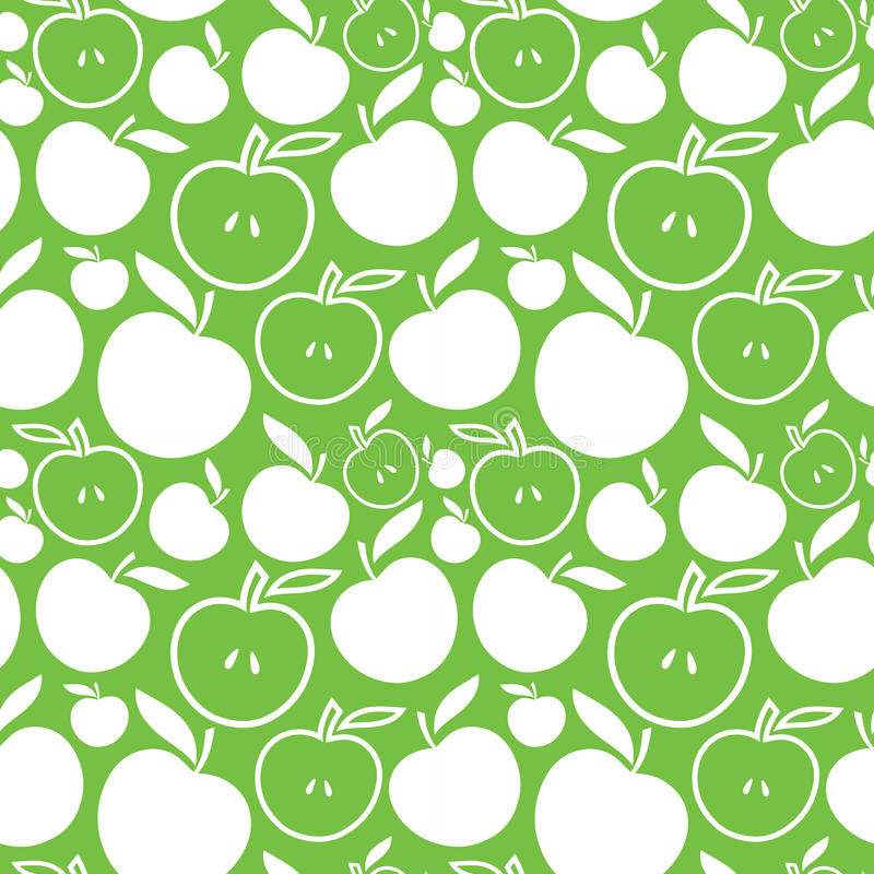 Seamless Apple Background Royalty Free Stock Photos