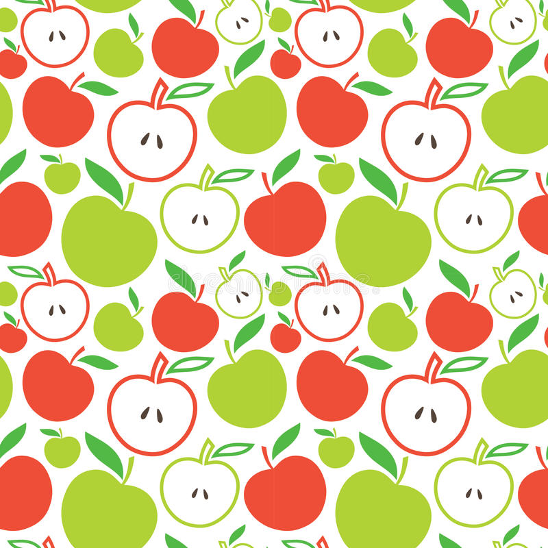 Download Seamless apple background stock vector. Illustration of graphic - 26618548