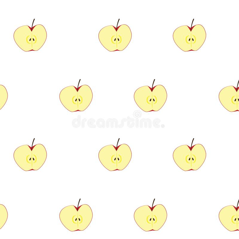 Seamless apple fruits stock images