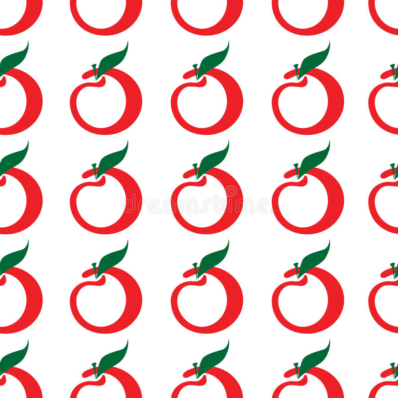 Seamless apple pattern royalty free stock images