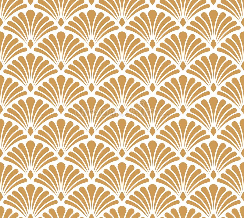 Seamless Arabesque Floral Pattern. Art Deco Style Background. Vector Abstract Flower Texture. Elegant Damask Floral Vector Seamless Pattern. Decorative Flower stock illustration