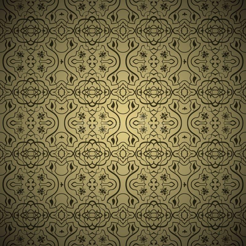 Seamless arabic ornament background stock illustration