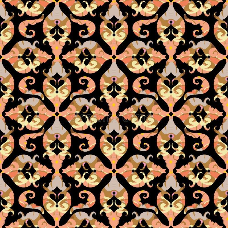 seamless arabisk modell Abstrakt dekorativ bakgrund för vektor stock illustrationer