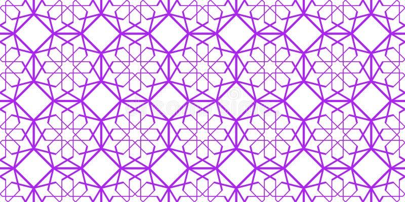seamless arabisk modell geometriskt islamiskt för bakgrund Dekorativ design för östlig mall Dekorativa tapeter för elit lyx royaltyfri illustrationer