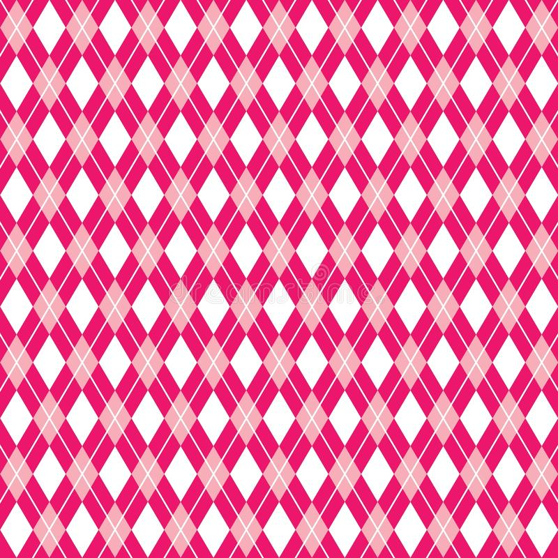 Seamless argyle pink background, argyle pattern, vector illustration vector illustration