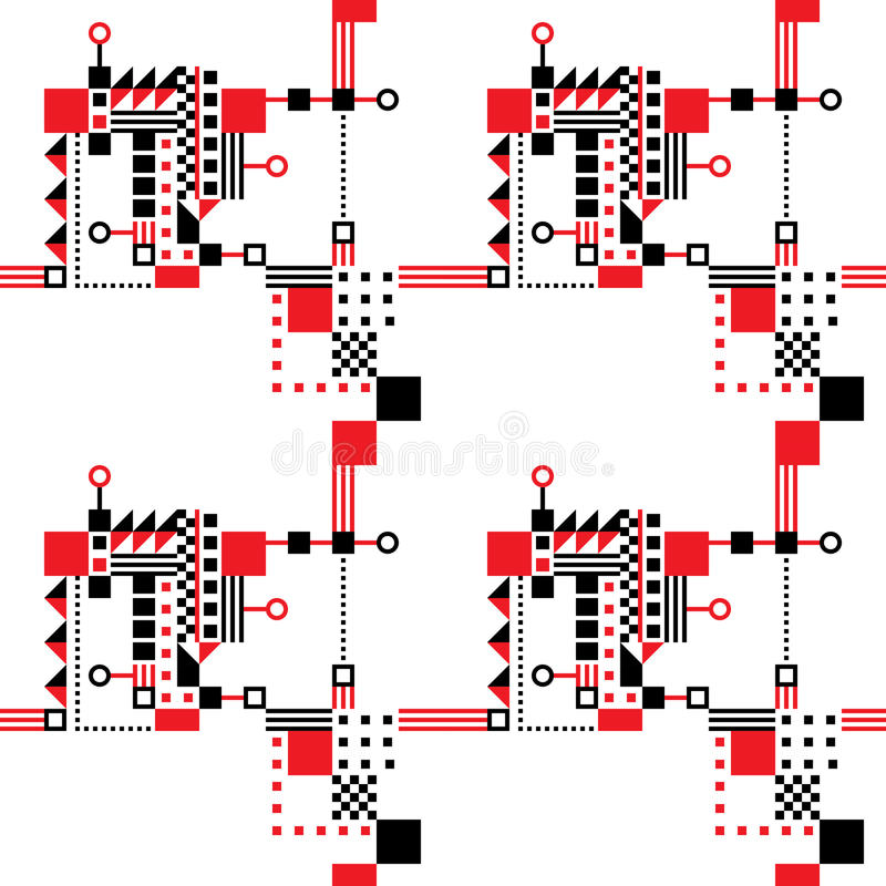 Download Seamless Art Deco Pattern stock illustration. Image of cool - 23348969