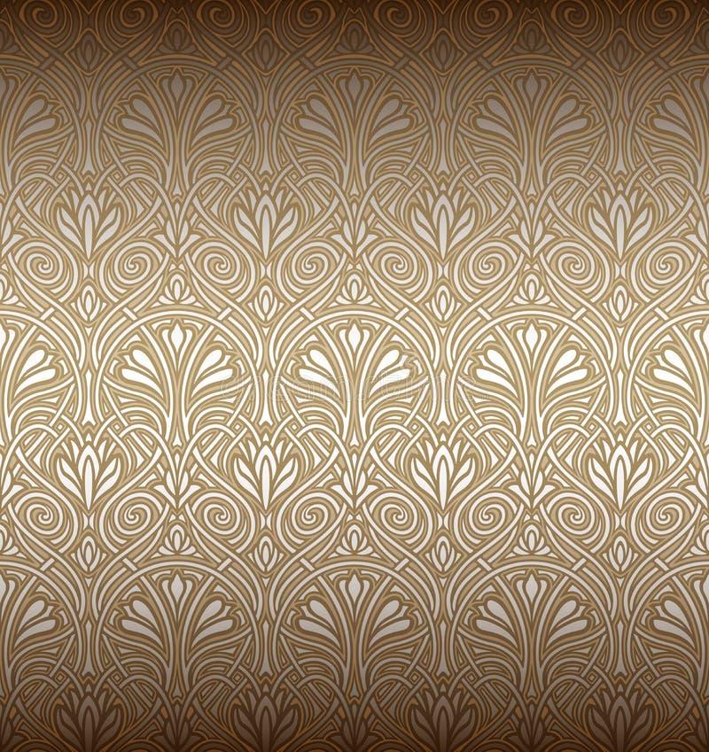 Free Seamless Art Nouveau Pattern Stock Photography - 18518812