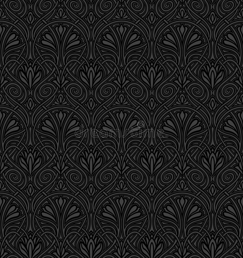 Free Seamless Art Nouveau Pattern Royalty Free Stock Images - 18681789