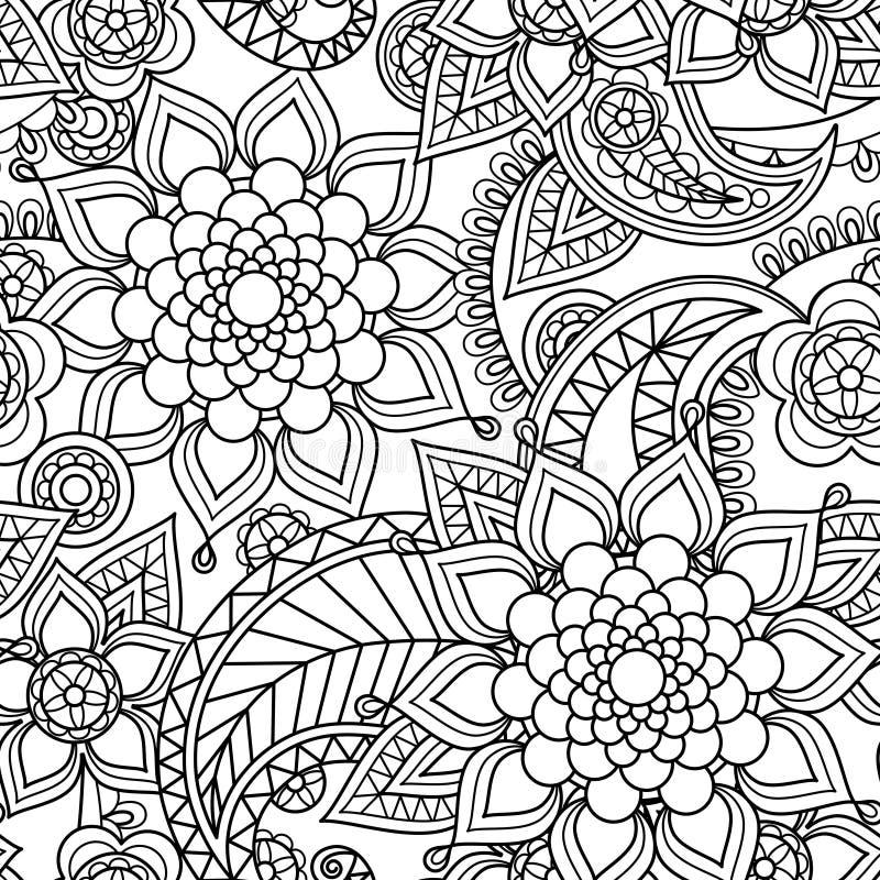 Seamless asian paisley pattern vector illustration