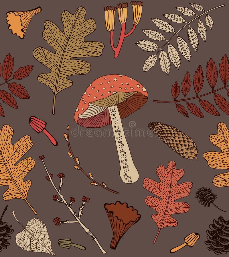 Seamless autumn background stock illustration
