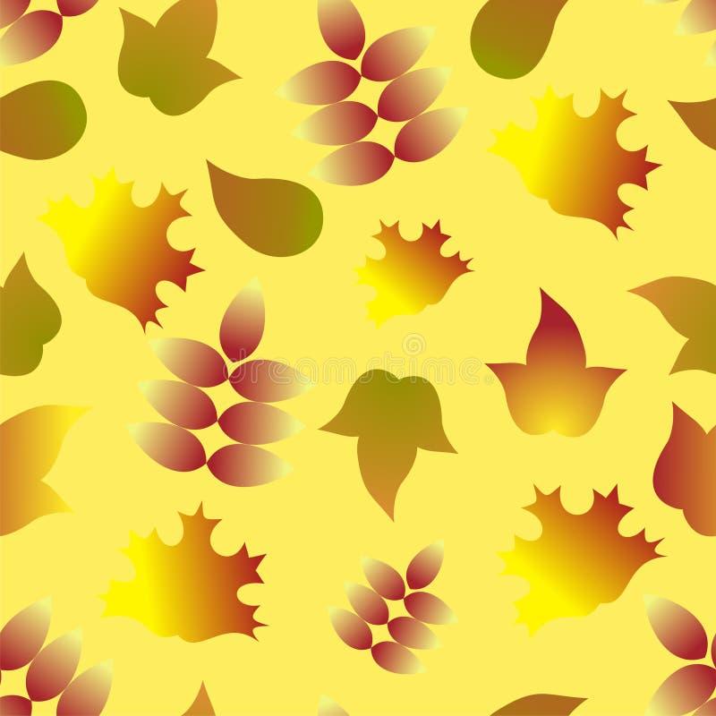 Download Seamless Autumn Leafs Pattern Stock Vector - Illustration: 25181007