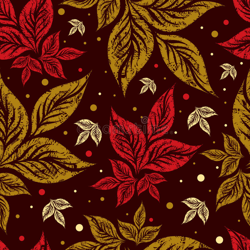 Download Seamless Autumn Leaves Background. Thanksgiving Stock Vector - Image: 15616323