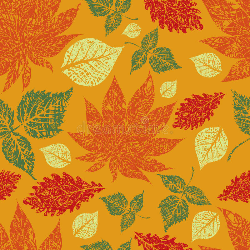 Seamless autumn leaves background. Thanksgiving vector illustration